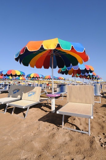Italy, Emilia Romagna, Rimini,beach : Stock Photo