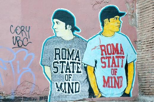 Stock Photo: 4292-151838 Italy, Lazio, Rome, Trastevere, mural