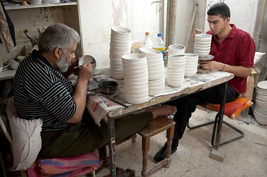 Stock Photo: 4292-151888 Israel, West Bank, Hebron, Al Salam ceramic factory