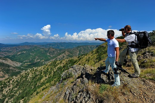 Stock Photo: 4292-152112 Italy, Piedmont, Capanne Marcarolo Natural Park, trekking over Mount Tobbio