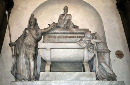 Italy, Florence, St. Croce, Dante tomb : Stock Photo