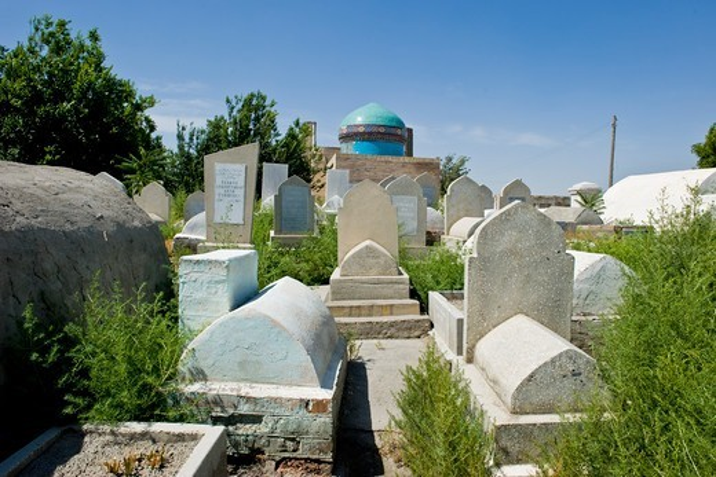 Uzbekistan, Kokand, Dahma I Shakhon cemetery : Stock Photo
