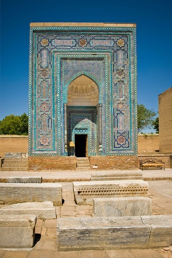 Stock Photo: 4292-153640 Uzbekistan, Samarkand, Shoi Zinda mausoleum