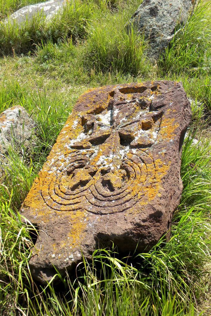 Stock Photo: 4292-153864 Armenia, Noraduz village, stone carved tombs