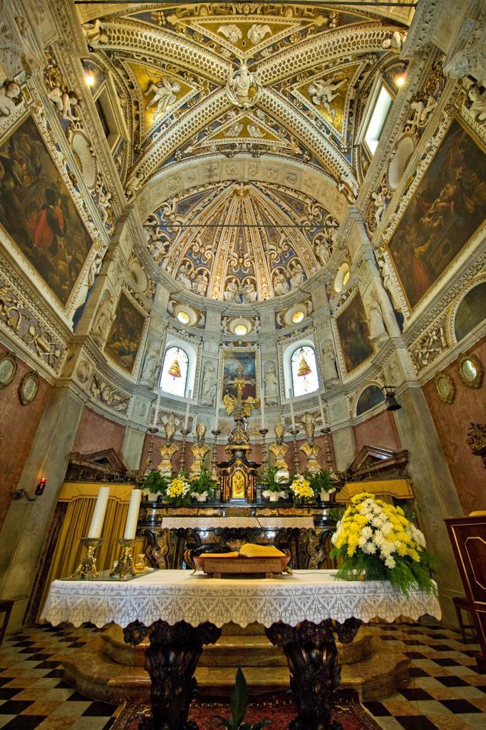 Italy, Lombardy, Tirano, Madonna Sanctuary, Santuario della Madonna : Stock Photo