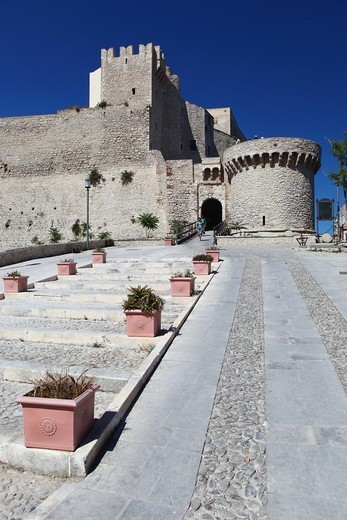 Stock Photo: 4292-154560 Italy, Apulia, Tremiti Island, San Nicola island, the castle of Badiali