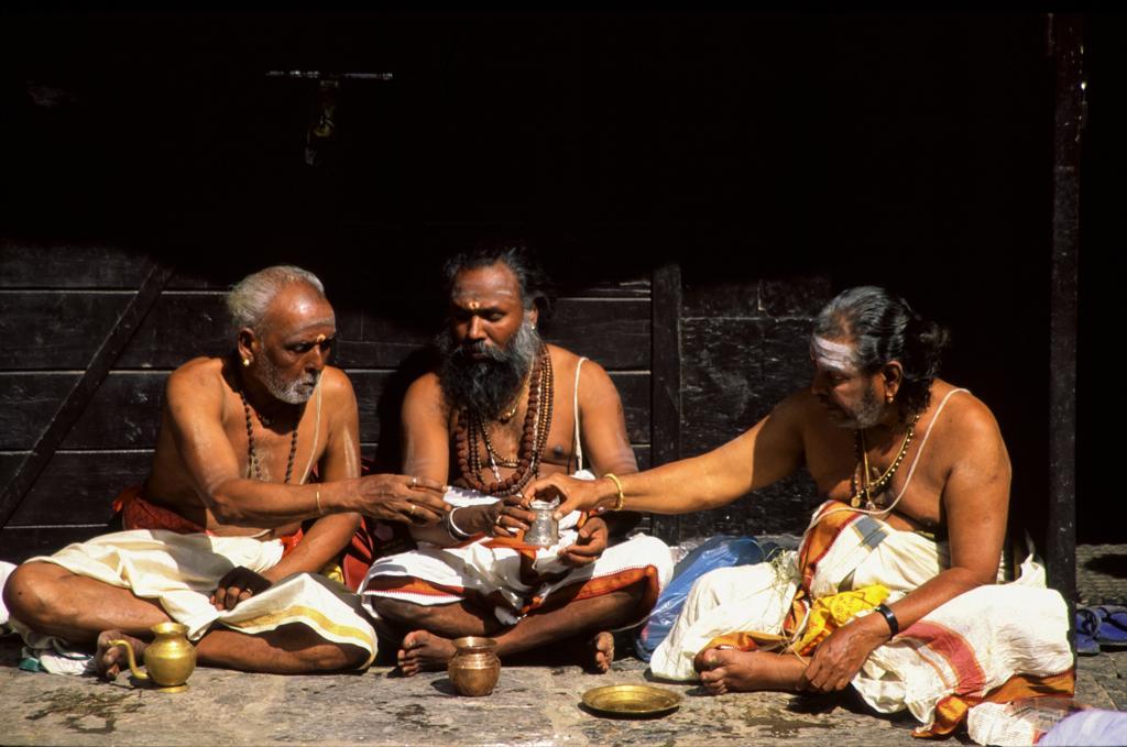 Asia, Nepal, Kathmandu, Sadhu at Pashupatinath Temple : Stock Photo