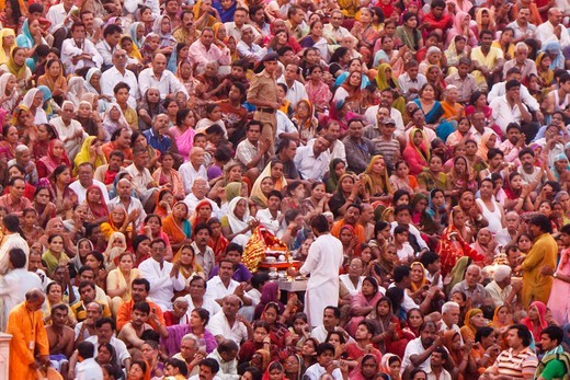Stock Photo: 4292-154608 India,Uttar Pradesh, Allahabad (Prayag), Kumbh Mela holy Festival