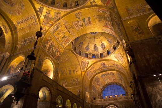 Italy, Venice, cathedral of San Marco, mosaics : Stock Photo