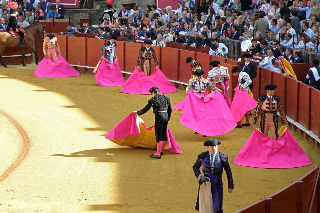 Bullfighting, Plaza de Toros, Seville, Spain : Stock Photo
