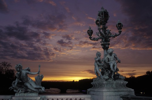 France - Paris,Pont Alexandre III at night : Stock Photo