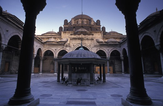 Stock Photo: 4292-16888 Turkey, Istanbulthe, the courtyard of Beyazit Mosque