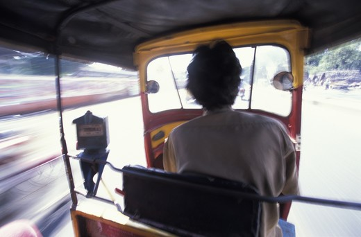Stock Photo: 4292-17490 Madras, India. Taxi driver