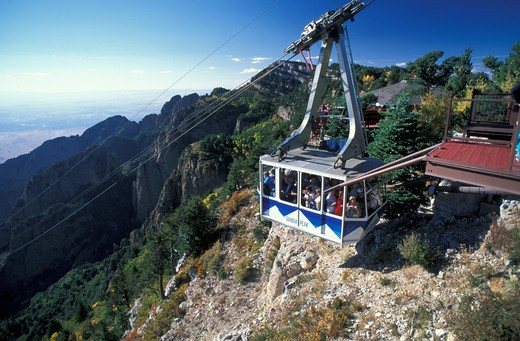 USA, New Mexico, Albuquerque, Sandia MT Tramway : Stock Photo