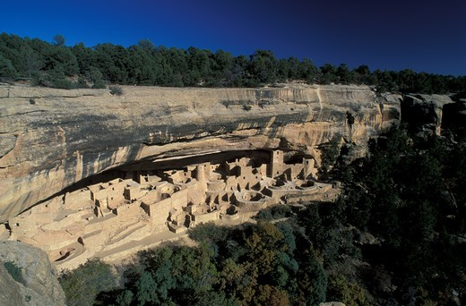 USA, Colorado, Mesa Verde, Cliff Palace : Stock Photo
