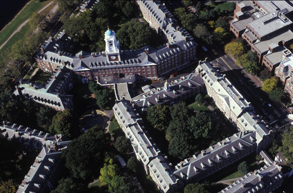 Stock Photo: 4292-18003 USA, Massachussett, Cambridge: aerial view of Harvard University Campus