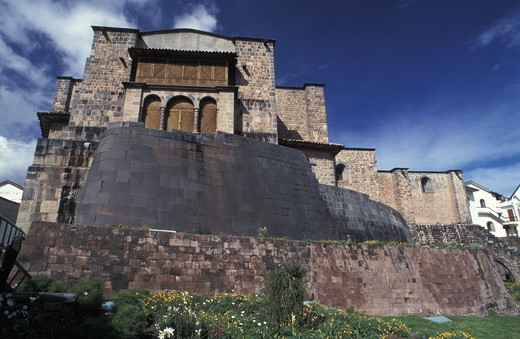 Peru, Cuzco: church of Santo Domingo : Stock Photo