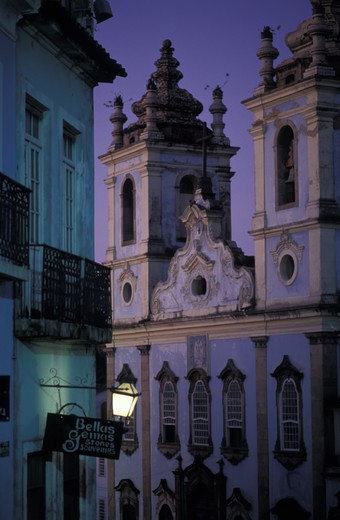 Stock Photo: 4292-18099 South America, Brazil, Salvador da Bahia, Rosario Church