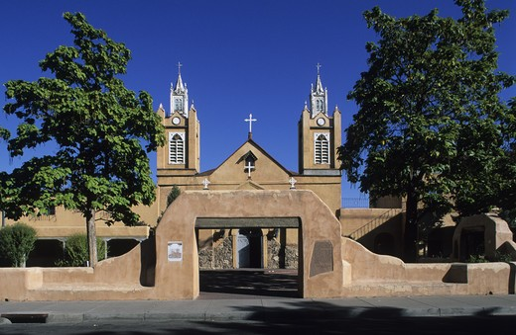 Usa, New Mexico, Albuquerque, San Felipe de Neri church : Stock Photo