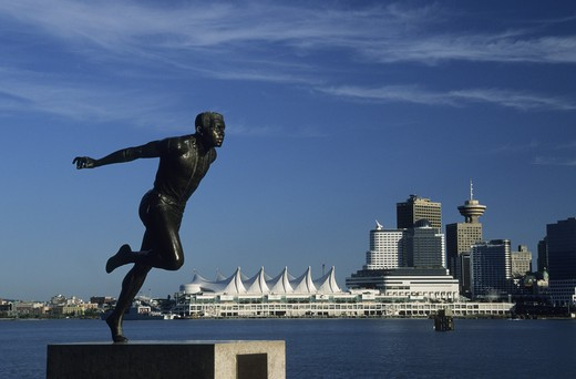 Stock Photo: 4292-18366 Canada, British Columbia, Vancouver, Stanley Park, Jerome Statue