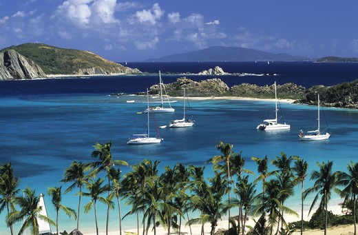 Stock Photo: 4292-18499 British Virgin Islands, Peter Island, Deadman Bay