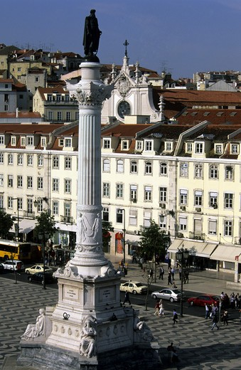 Stock Photo: 4292-18731 Europe, Portugal, Lisbon, Rossio Square
