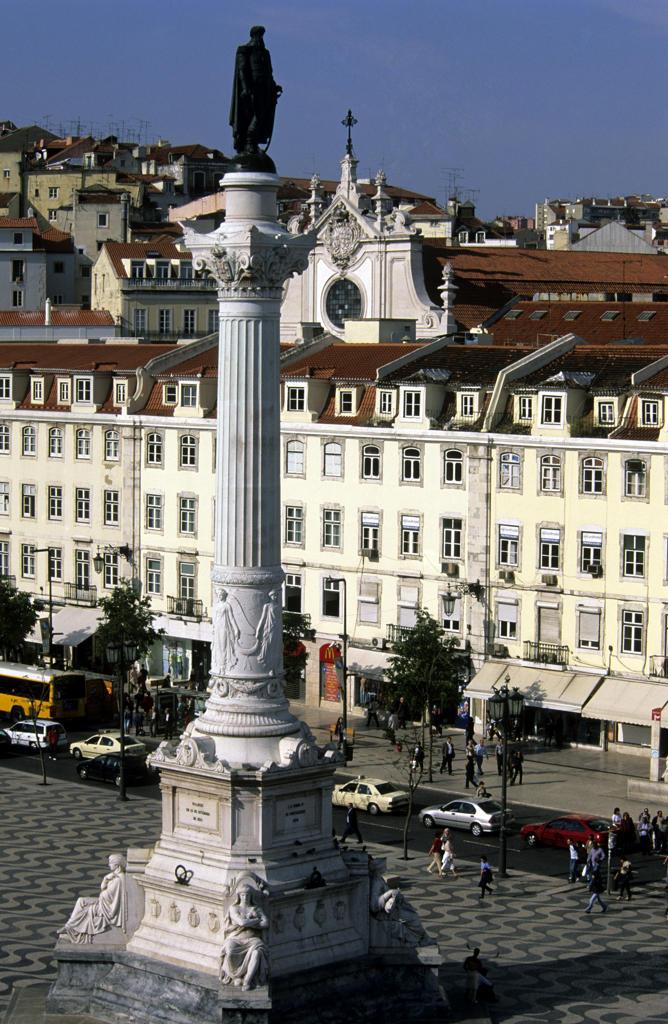 Europe, Portugal, Lisbon, Rossio Square : Stock Photo