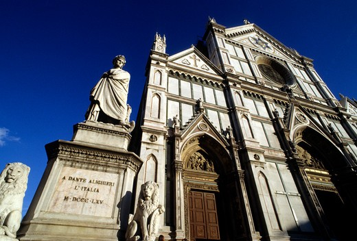 Stock Photo: 4292-19009 Italy, Tuscany, Florence, Santa Croce Church