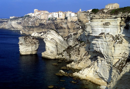 France,Corsica Island, Bonifacio the cliffs : Stock Photo