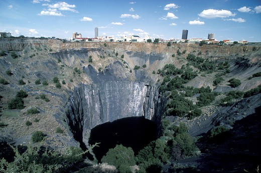 Stock Photo: 4292-19205 South Africa, Koffifontein, Kimberley diamond mines, Big Hole