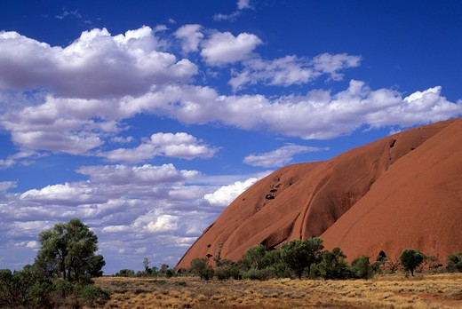 Stock Photo: 4292-19545 Australia, Northern Territory, Uluru-Kata Tjuta National Park , Uluru Ayers Rock