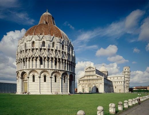 Italy, Tuscany, Pisa. The Cathedral and the baptistery : Stock Photo