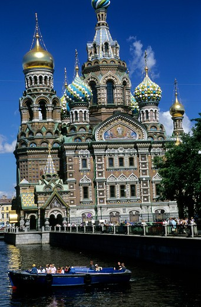 Russia, St. Petersburg. Savior Blood Church : Stock Photo
