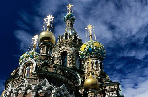 Russia, St. Petersburg. Savior Blood Church : Stock Photo