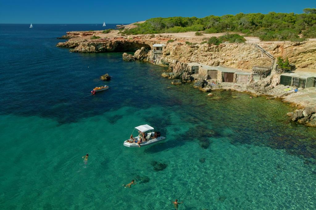 Spain, Balearic Islands, Ibiza, Cala Conta : Stock Photo
