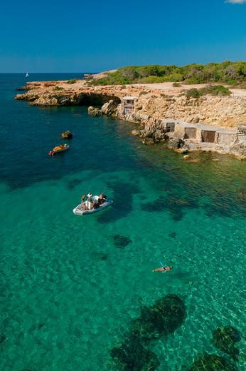 Stock Photo: 4292-1988 Spain, Balearic Islands, Ibiza, Cala Conta