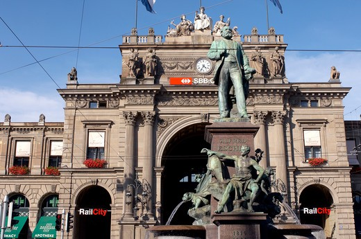 Stock Photo: 4292-19930 Switzerland, Zurich, the train station building