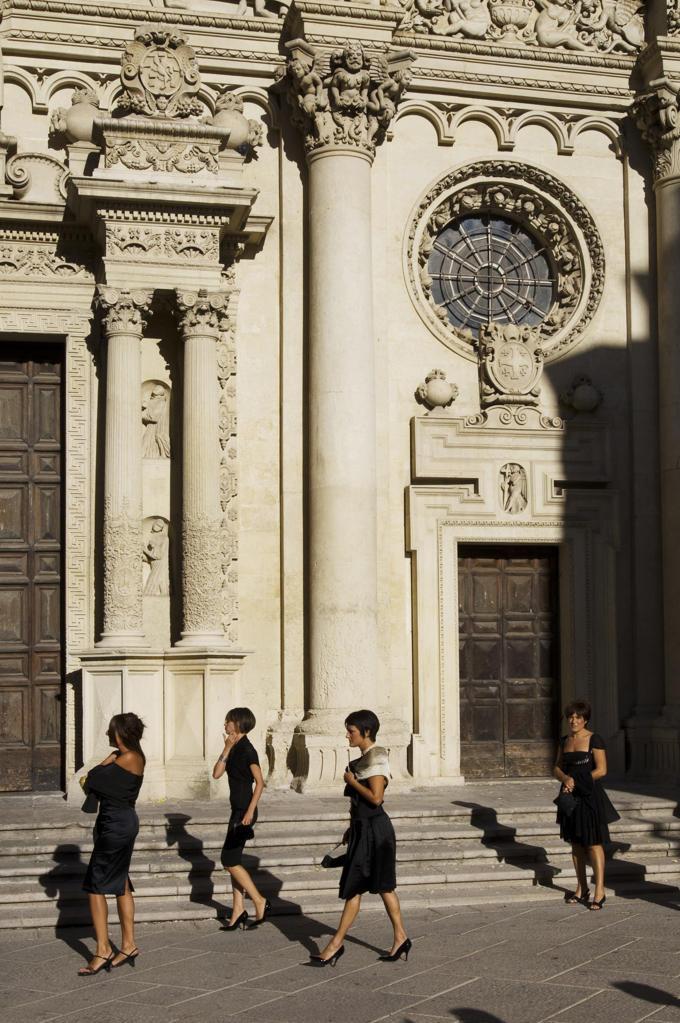 Italy, Apulia, Lecce, Basilica di Santa Croce. : Stock Photo