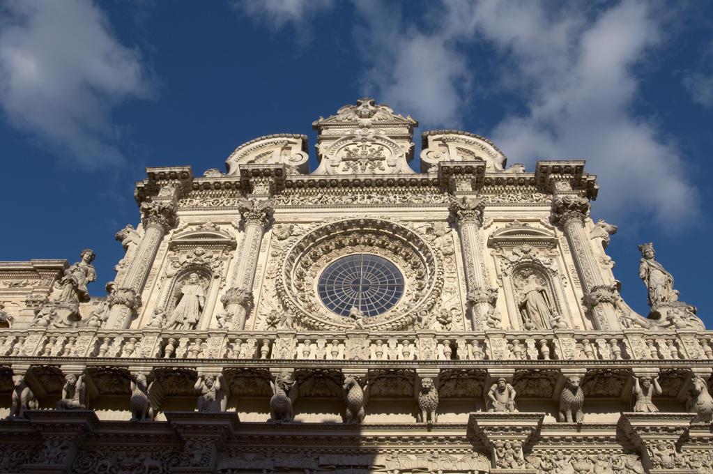 Stock Photo: 4292-20476 Italy, Apulia, Lecce, Basilica di Santa Croce, facade.