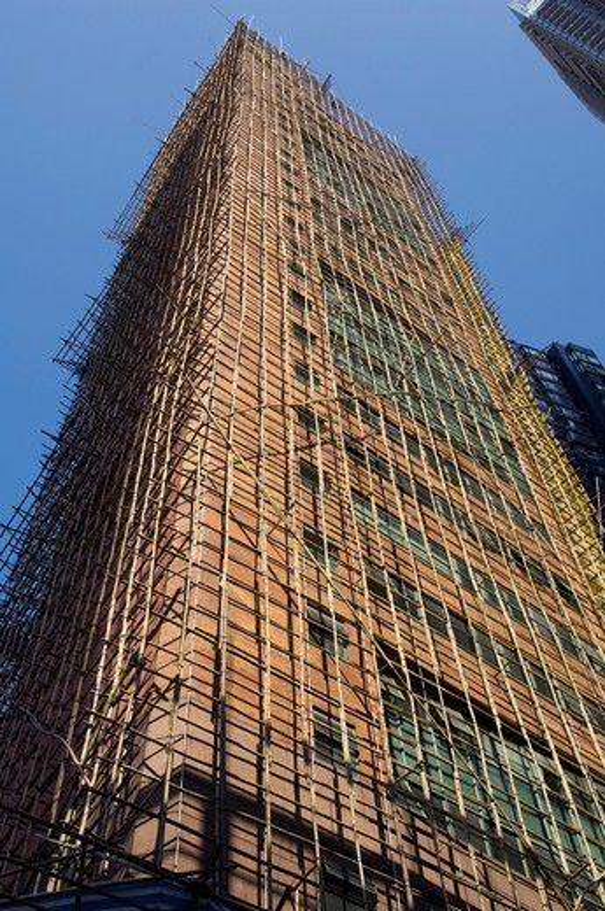 China, Hong Kong, Residential Building. : Stock Photo