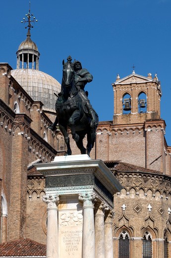 Stock Photo: 4292-20563 Italy, Veneto, Venice, Castello Quarter, San Giovanni e Paolo Square, Colleoni Monument.