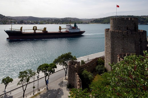 Turkey, Istambul, Bosphorus European Side, Side Rumeli Hisari Fortress : Stock Photo