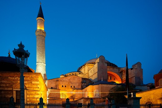 Turkey, Istanbul, Aya Sofya at Dusk : Stock Photo