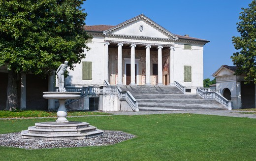 Stock Photo: 4292-2616 Italy, Veneto, Fratta Polesine, Villa Badoer, Andrea Palladio Architect