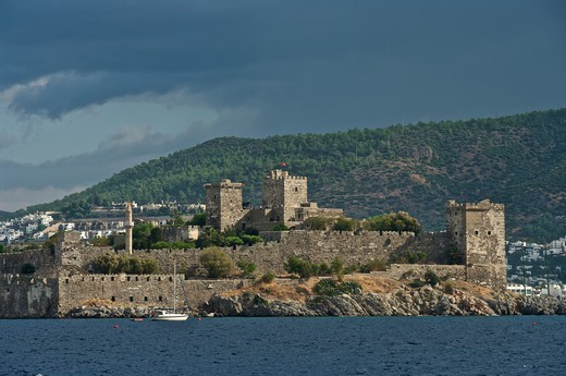Turkey, Bodrum town St Peter's Castle : Stock Photo