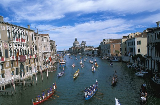 "Stock Photo: 4292-31138 Italy, Venice """"Regata Storica"""" Canal Grande Historical boats parade"
