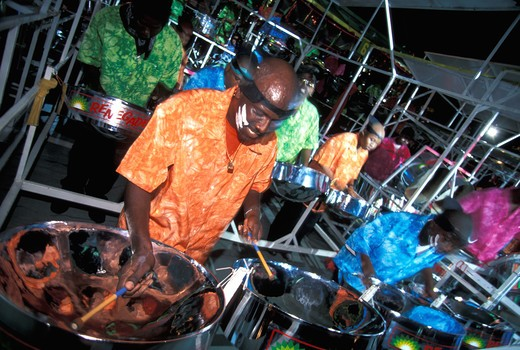 Stock Photo: 4292-31280 Caribbean Trinidad and Tobago Carnival Steel pan