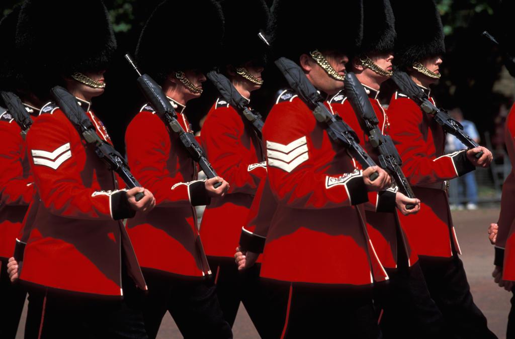 Stock Photo: 4292-31584 UK, London, Royal Guards marching
