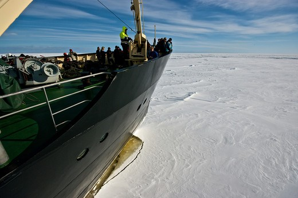Europe, Finland, Lapland, Sampo icebreaker in the Arctic Ocean : Stock Photo