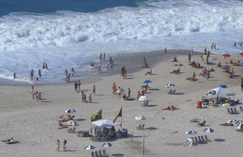 Brazil, Rio de Janeiro. Copacabana beach : Stock Photo